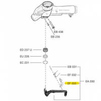Схема установки фиксатора рычага EF 033