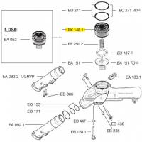 Схема установки крышки мембраны EK 148.1