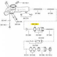 Схема установки уплотнительного кольца EO 105
