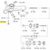 Схема установки фиксатора носика EB 128.1